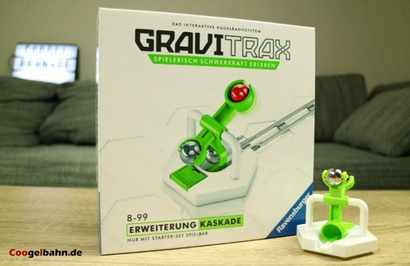 Die Kaskade kommt im GraviTrax-typischen Karton