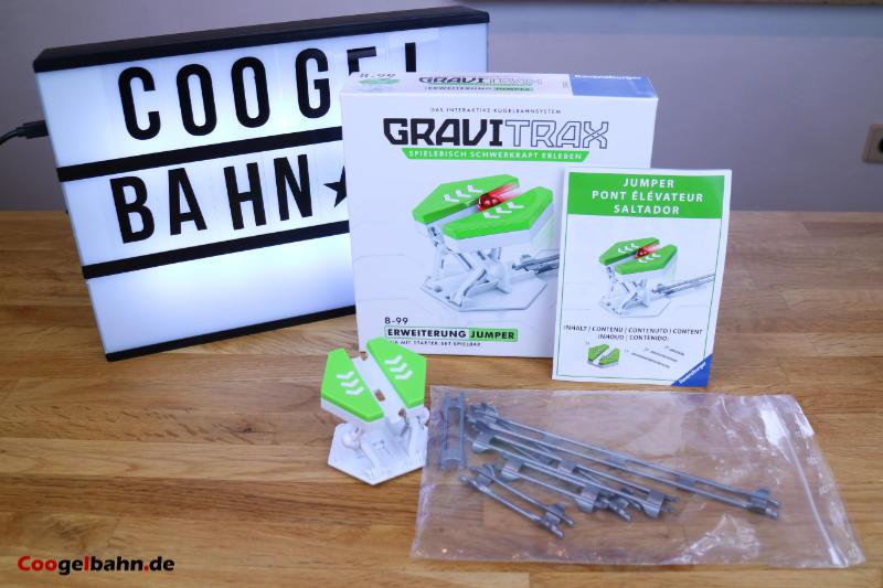 Verpackung und Lieferumfang des GraviTrax Jumper