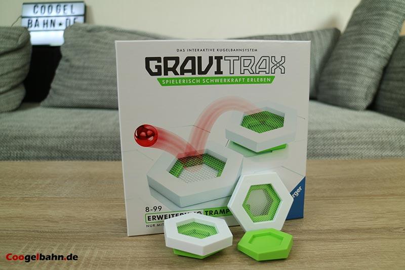 GraviTrax Trampolin: Karton und Inhalt